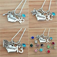 Personalised Birthday Necklace for mum sister daughter cousin 13th18th 21st 30th