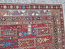 ANTIQUE MARSALI SHIRVAN CAUCASIAN DATED RUG FROM HYDE PARK ESTATE_LT 1800's
