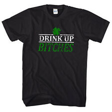 DRINK UP BITCHES ST PATRICKS DAY TSHIRT TEE FANCY DRESS FUNNY SLOGAN MEN  L24