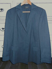 EUC Misses Ladies Womens AKRIS Gray Wool Blazer SWITZERLAND Size 14 WOW!