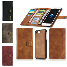 Genuine Leather Wallet Case Cover Flip Card Holder For Apple iPhone 7 6 6S Plus