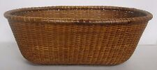 """VERY OLD VINTAGE LARGE 16"""" NANTUCKET OVAL BASKET IN NICE CONDITION FOR AGE"""