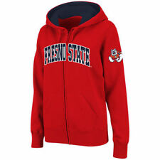 Fresno State Bulldogs Stadium Athletic Women's Arched Name Full-Zip Hoodie