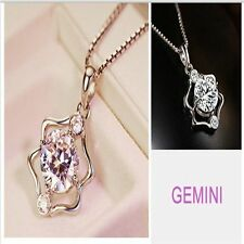 Shining Pendant 1Pc Fashion Exquisite Fine Necklace Crystal Silver