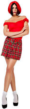 Pleated skirt red checkered NEW - Ladies Carnival Fancy Dress