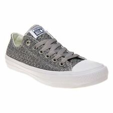 CONVERSE Womens Grey Chuck Taylor All Star II Low Textile Trainers Canvas 154025