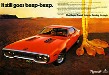 1971 Plymouth Roadrunner - Promotional Advertising Poster