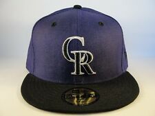 MLB Colorado Rockies New Era 59FIFTY Fitted Hat Cap Team Flip Purple Black