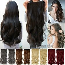 Real Thick Hot Clip In Hair Extensions 3/4 Full Head Remy Curly As Human New Tps