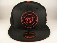 MLB Washington Nationals New Era 59FIFTY Fitted Hat Cap Tonal Pop Black Red