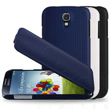 STYLISH CARBON FIBRE EFFECT FLIP CASE COVER SKIN FOR SAMSUNG GALAXY S4 SIV i9500