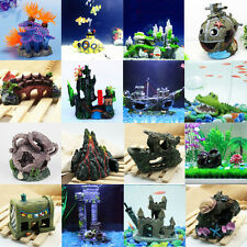 Fish Tank Aquarium Decoration Artificial Ornament Sea Plant Resin Supplies Decor