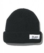 SILAS Waffle Cuff Beanie Knit Cap Hat Mens Japan Made Brand Authentic New