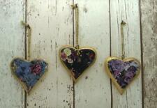 Antique Floral Design Vintage Wooden Shabby Chic Hanging Heart