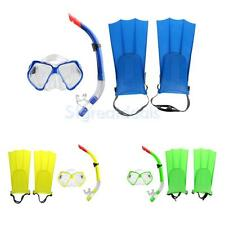 Professional Dive Set, Scuba Diving Goggles Mask Snorkel Fins Flippers
