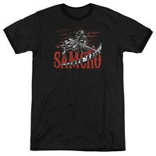 Sons Of Anarchy Acronym Mens Adult Heather Ringer Shirt Black