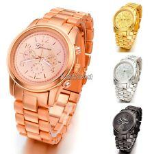 Hot Fashion Ladies Women Girl Unisex Stainless Steel Quartz Wrist Watch 4 WST