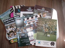 Newcastle United Home Programmes. 1971 to 2005.