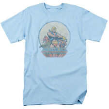Masters Of The Universe He Man And Crew Mens Short Sleeve Shirt Light Blue
