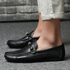Comfy Leisure Mens New Casual Leather Slip on Loafer  Moccasins Driving Shoes