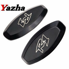 Black Mirror Block Off Base Plates for For Yamaha YZF R1 YZF-R1 1998 1999 Chrome