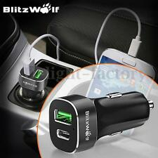 [Qualcomm 2.0] BlitzWolf BW-C7 33W Quick Charge USB Type C Car Charger+ 1m Cable