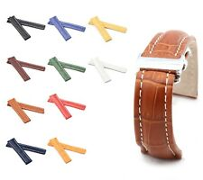 BOB Alligator Style Deployment Strap for Breitling, 20-24 mm, 11 colors, new!