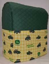 Quilted Green/Yellow Tractor Kitchenaid 7 & 8qt Lift Bowl Stand Mixer Cover