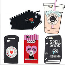 3D Cute Cartoon Soft Silicone Case Cover Back Skin For iPhone5/SE/6/6s/7 Plus