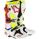 ALPINESTARS TECH 10 MOTOCROSS ATV DIRTBIKE MX BOOTS WHITE/RED/YELLOW MENS SIZE
