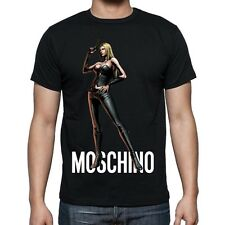 Black Men Mens Modern Sexy New T-Shirt Tee Girl Moschino