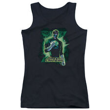 Justice League Green Lantern Brooding Juniors Tank Top Shirt Black