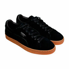Puma Suede Classic Citi Mens Black Suede Lace Up Trainers Shoes