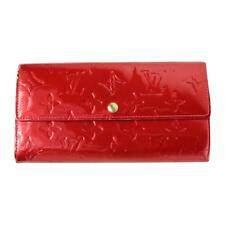 Authentic Louis Vuitton Monogram Vernis Pomme D'Amour Red Long Wallet M93530