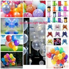 "10"" METALLIC/Pearlised High Quality LATEX BALLOONS Decoration/Birthday/Party"