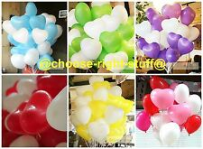 10-100 Heart Shape White With Mix Colour Balloons Mothers Day Birthday wedding