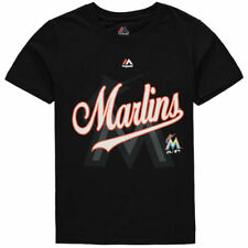 Miami Marlins Majestic MLB Youth At The Game  T-Shirt - Black