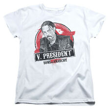 Sons Of Anarchy Vice President Womens Short Sleeve Shirt White