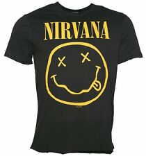 Official Men's Charcoal Nirvana Smiley T-Shirt from Amplified