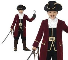 Childrens Deluxe Pirate Captain Fancy Dress Costume Boys Pirates Outfit Age 4-12