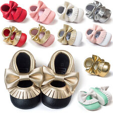 Kids Toddlers Girl's Bow-knot Princess Casual Shoes Baby Flat Shoes 0-18 Months