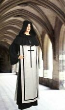 Medieval Christian Ritual Robe Handmade Natural Cotton with Scapular and Hood