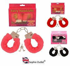 FURRY FLUFFY HANDCUFFS Fancy Dress Hen Night Stag Do Role Play Sex Aid Toy UK