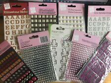 Alphabet Gems, Pearls, Foam, Rhinestone Letters & Pearl shaped gems Free uk P&P