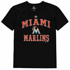 Miami Marlins Majestic MLB Youth City Wide Cool Base  T-Shirt - Black