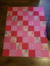 Handmade Patchwork Quilt for a Pram Moses Basket or Cot Welcome to the World