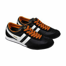 Gola Wasp Mens Black Suede & Nylon Lace Up Trainers Shoes