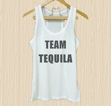 Team Tequila Slogan beverage quotes XS S M L XL white tank top/ Grey tee/ dress