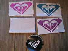 "ROXY Surf Die-Cut Car Stickers Decals Surfing ""RIKA"" Heart Logo Snowboard Quik"