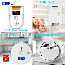 LCD CO Carbon Monoxide Detector Poisoning Gas Warning Sensor Monitor Smoke Alarm